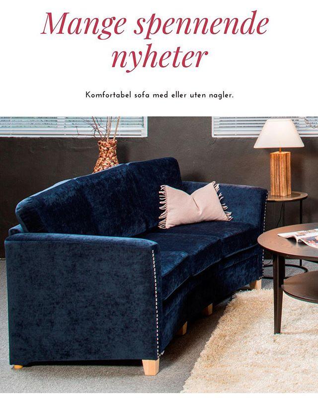 Hei. Vi har fått inn mange av høstens nyheter. Besøk oss og vi tar deg gjerne med på en visningstur. Sofa på bildet: Komfortabel sofa med eller uten nagler. Leveres i ulike størrelser, også som hjørnesofa, og kan skreddersys i spesialmål! Mange stoffmuligheter. Velkommen, og ha en riktig god helg! #møbler #sandefjord #sofa #interiør #interiordesign #sandefjord #vestfold #norge #norway #furniture #høst #mikkelmøbler #interior #bord #lamper #chair