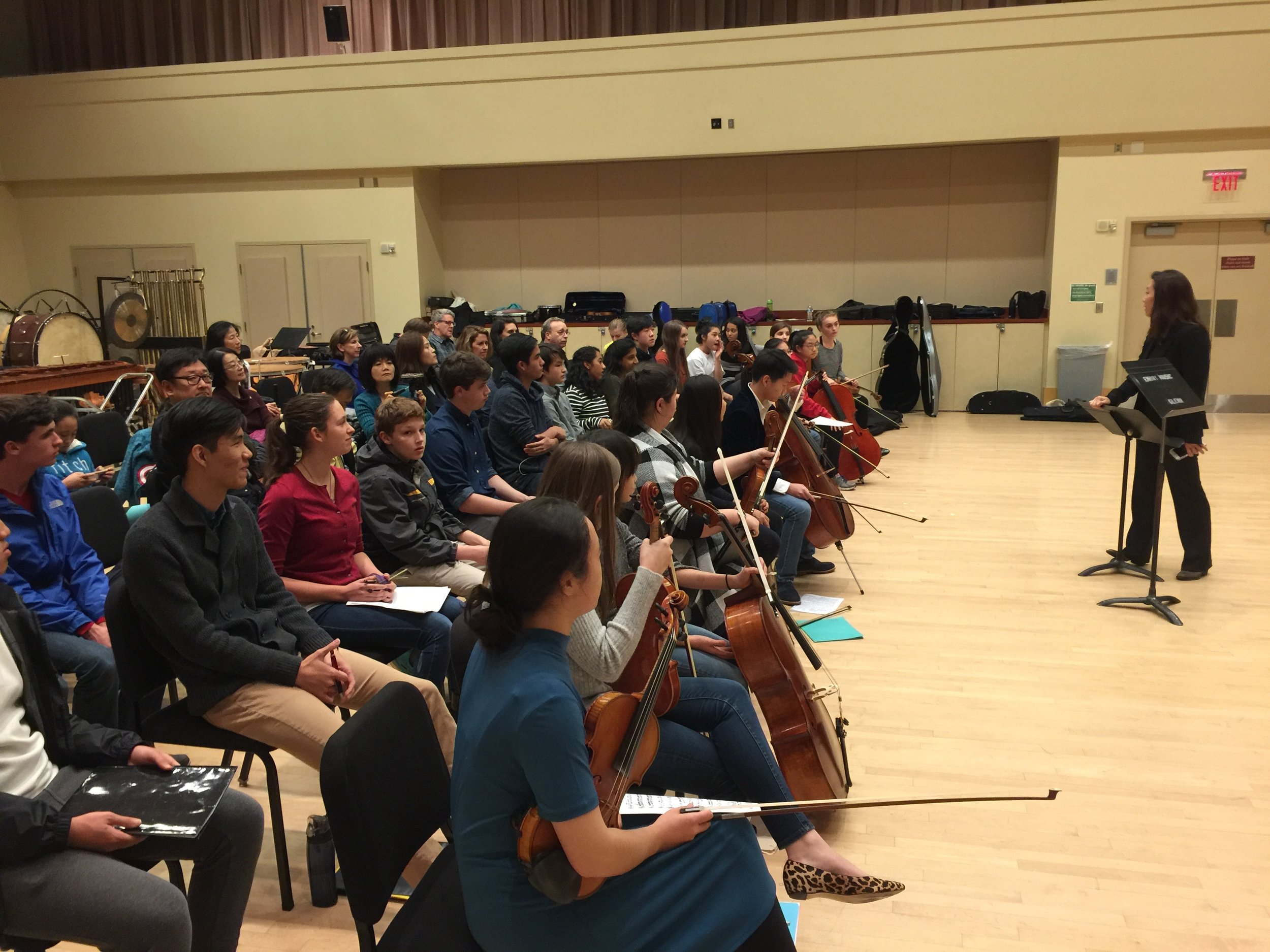 EYCP students participate in a masterclass once a semester, performing for peers and colleagues.