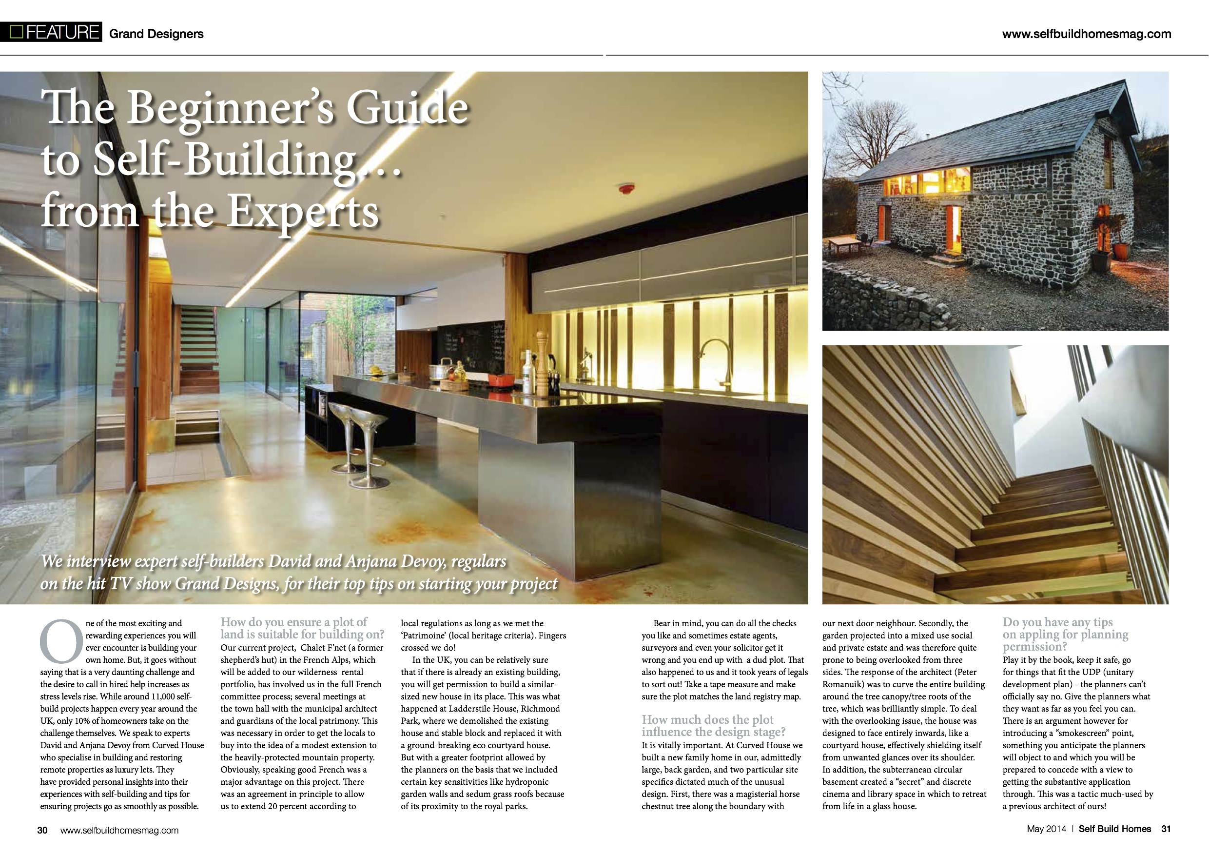 Self Build Homes - May 2014 , The Curved House, London