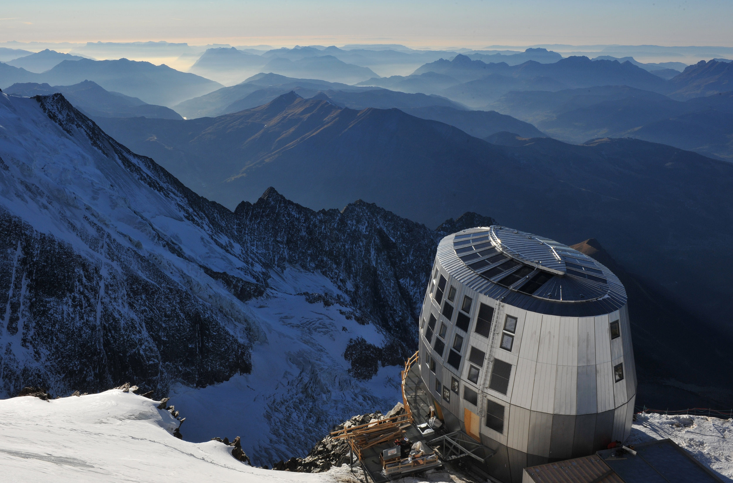 Refuge de Gouter, the highest mountain hut in the French Alps