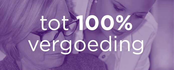 tot 100 procent vergoeding in de zorg