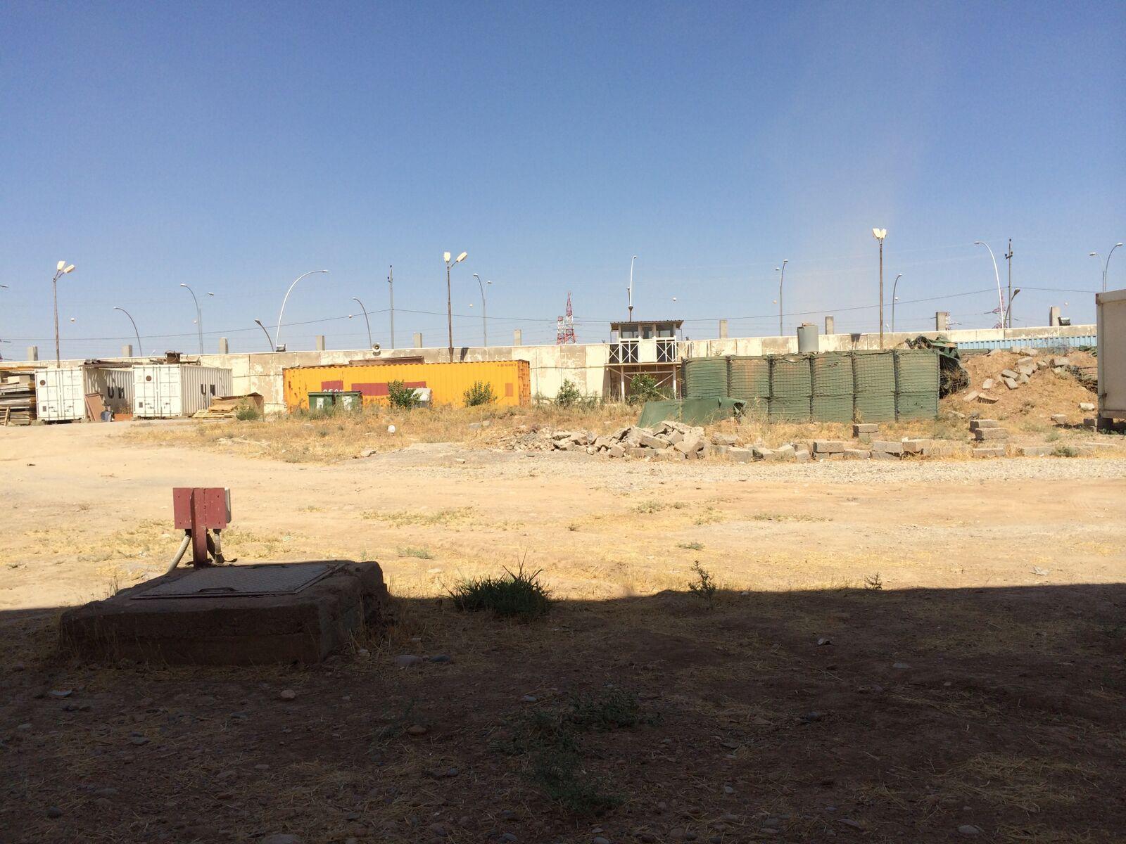 UNAMI Compound, Erbil, 2014. The only place where we could walk alone in Erbil. © Brendan McDonald