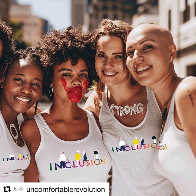If you can be one thing, be Inclusive. . Loving my company's new range of #inclusion t-shirts and accessories designed by @ceelgee . . #inclusionmatters #inclusion #bodypositive #graphictees #tshirts #tshirtdesign #Repost @uncomfortablerevolution with @get_repost
