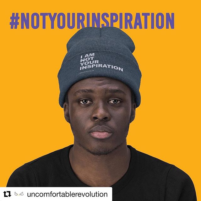 #Repost @uncomfortablerevolution ・・・ #disabled people are not your inspiration.