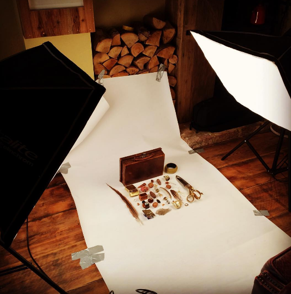 Shooting objects for the website with Neil Randle