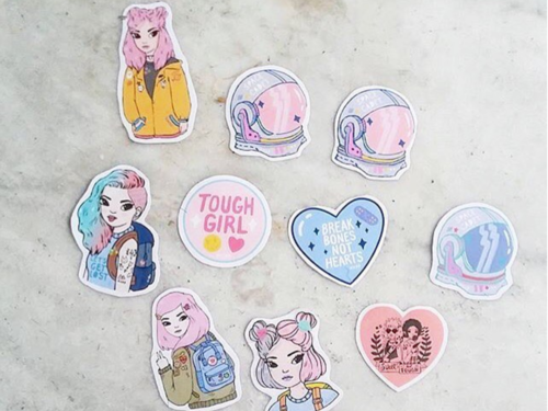 Cassy Kicks  Pastel stickers + pins    Instagram »
