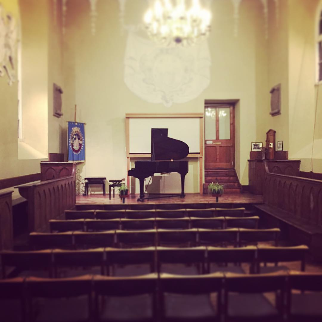 The stage is set #andrewmccormack #solopianotour #stlawrencechapel #ashburton