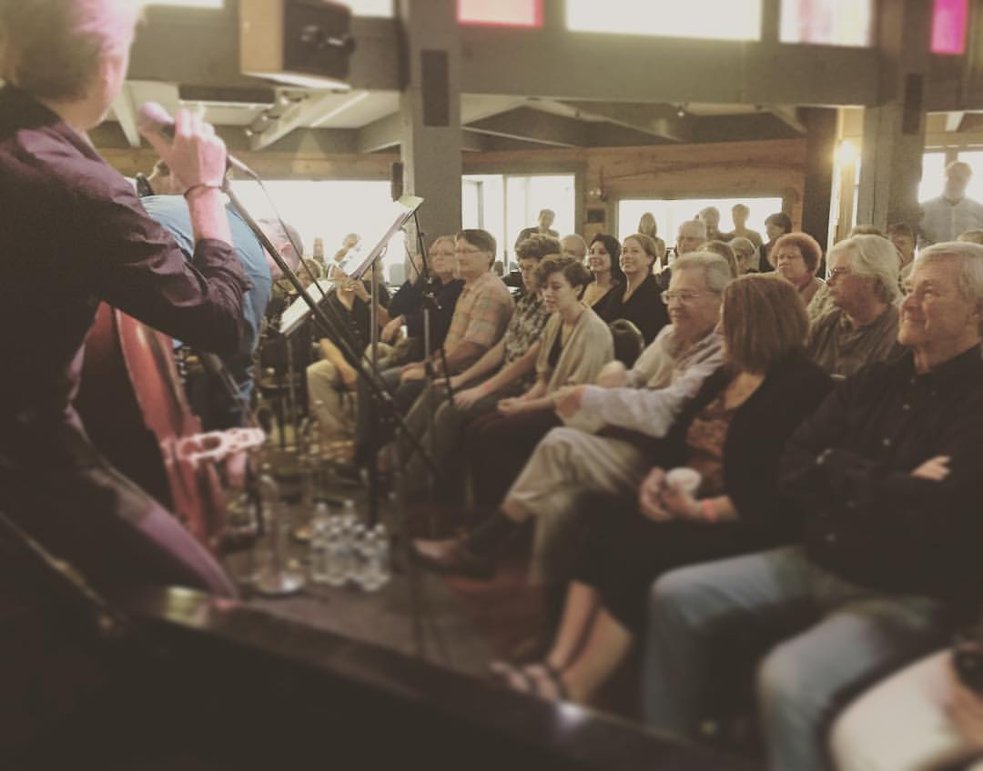 Amazing crowd at the Bach & Dynamite Society in Half Moon Bay. Now headed to LA for our next show at Catalina's #kyleeastwoodband (at Bach Dancing & Dynamite Society at the Douglas Beach House)