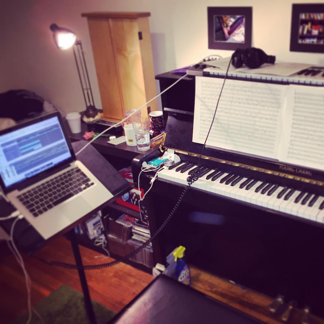 Downtime is time to work on new music! (at Prospect Park, New York, Ny)