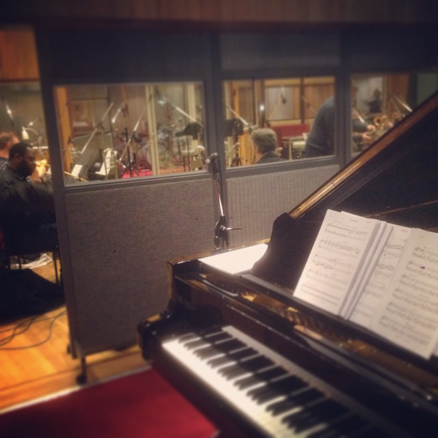 Recording session today for #colintowns mask orchestra. Fab music but very hard to play! 😰 (at Angel Studios)
