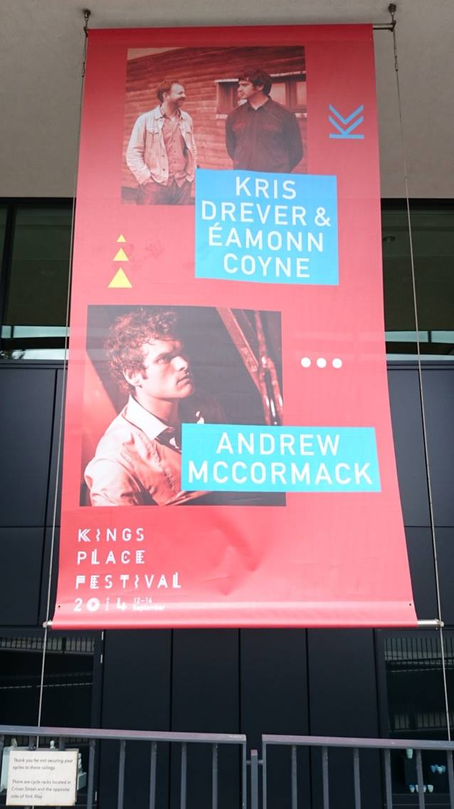 LONDON SHOW this Fri Sept 12th 6.15pm - Andrew McCormack presents 'First Light' at Kings Place festival