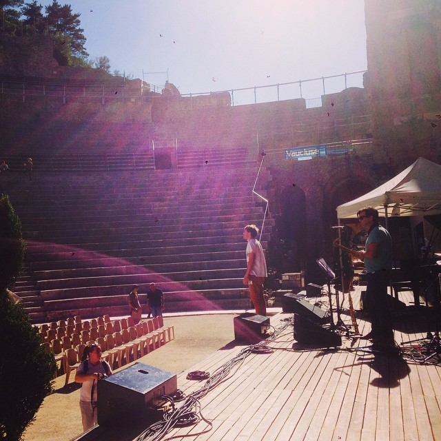 Today's gig in Orange, FR #kyleeastwoodband  (at Le Théâtre Antique d'Orange)