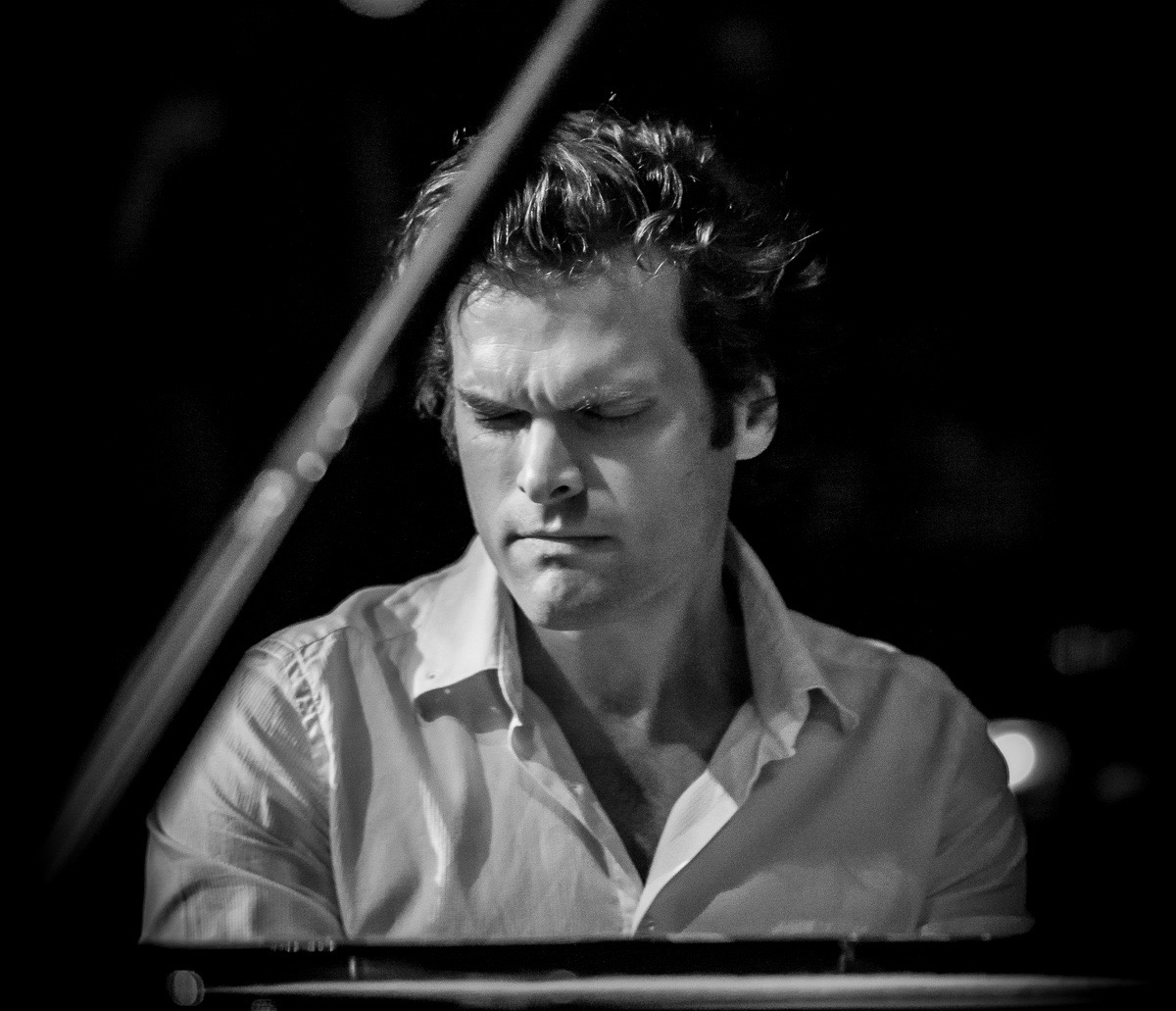 Andrew McCormack at Ronnie Scott's, International Piano Trio Festival, 2015. Photographer: Carl Hyde