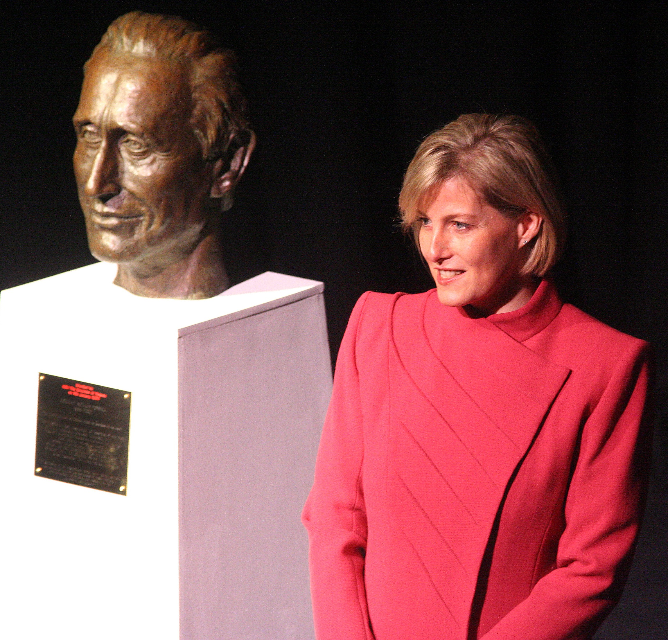 Countess of Wessex unveiling Con Powell