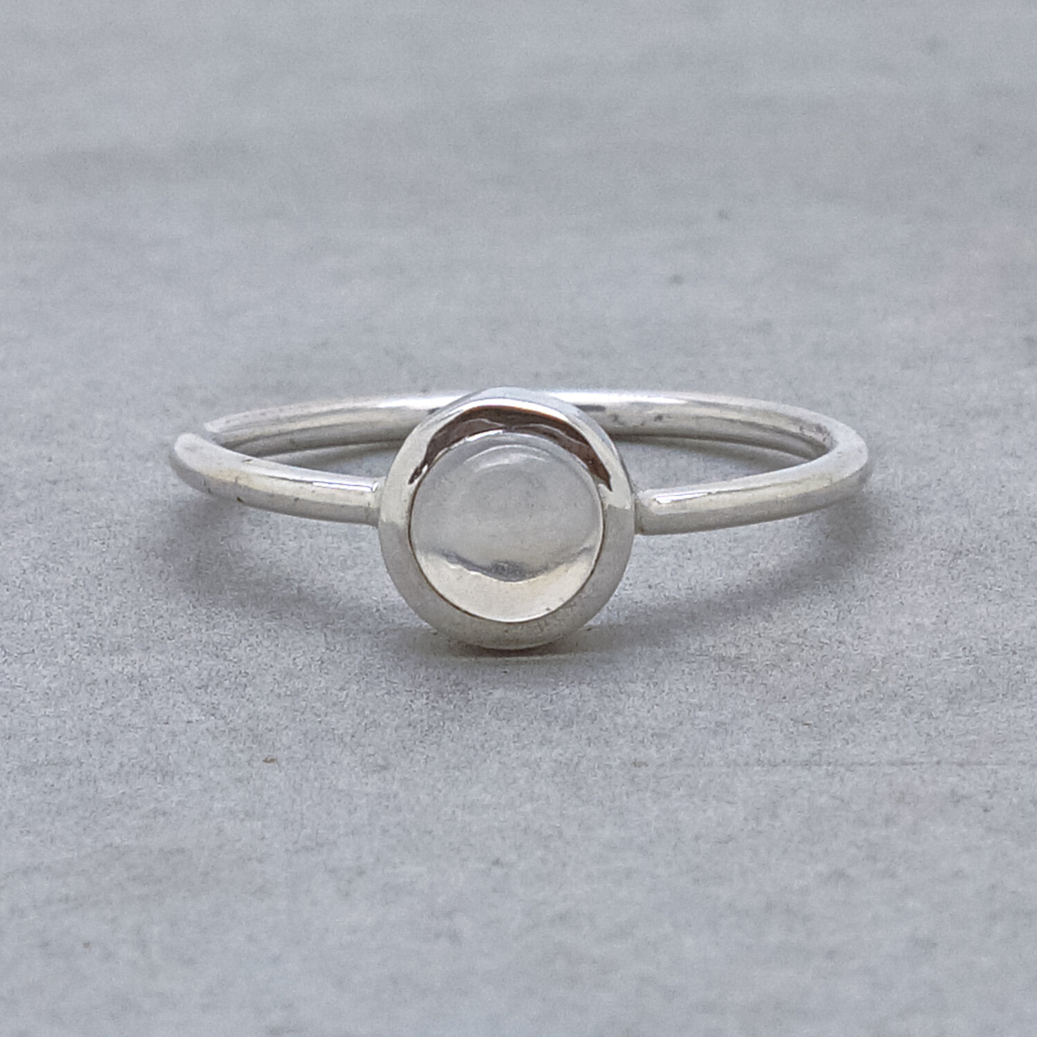 Delicate Silver Ring Dainty Moonstone Ring