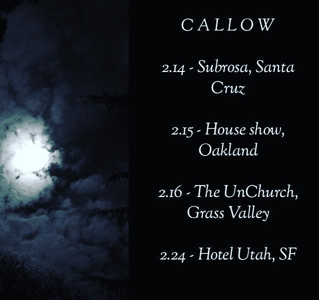 We like you already, February. . #callow #oakland #sf #santacruz #grassvalley #dreamdoom #doom #dark #noir #livemusic #callowtheband #callowmusic #bayareamusic #bayareamusicscene #rock