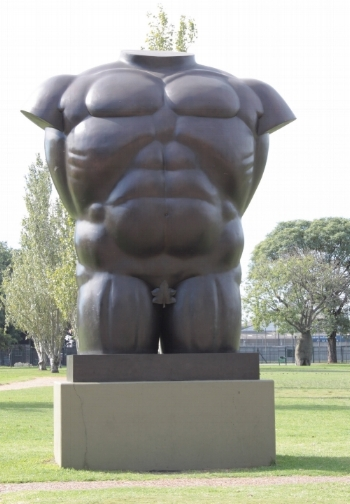 Mind over muscle, and yet this torso is headless. I hope the irony is not lost on you.