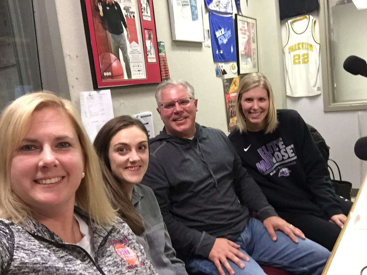 Coaches Caira Dortch, Chuck Hepola, and Kelsey Keizer