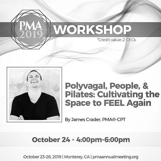 PMA Conference: I'll be presenting at The Pilates Method Alliance Annual Meeting October 23-26, in Monterey, CA. . * * Folks, I've been working so hard at creating an informative and interesting workshop for you to enjoy at this year's PMA Conference. I've edited ... re-edited ... considered ... researched ... thought through ... scrapped it all ... and then re-created again, what I think is the best of what I have to offer right now. We'll be talking The Vagus Nerve and how teaching from a place of its consideration is what brings forth the best in our work no matter what that work is. Hoping you'll join me. . * * I've also been asked to co-teach a circuit class with @camoosemove and @cprpilates. I spent my free time this week playing with some ideas: how can I frame my work with the context of our theme (The Powerhouse) and still stay true to me work (like, what even is a Powehouse?!?). I think I'm there.  Sometimes my work is super somatic and playful. Other times it's this. 🤗😉🤣 * * * #pilates #pilatesmethodalliance #pilatesteacher #pilateslovers #pilatesreformer #pilatesstrong #pilatestraining #pilatestime #pilateseveryday #pilatescommunity #pilatesbrasil #polyvagaltheory #vagusnerve