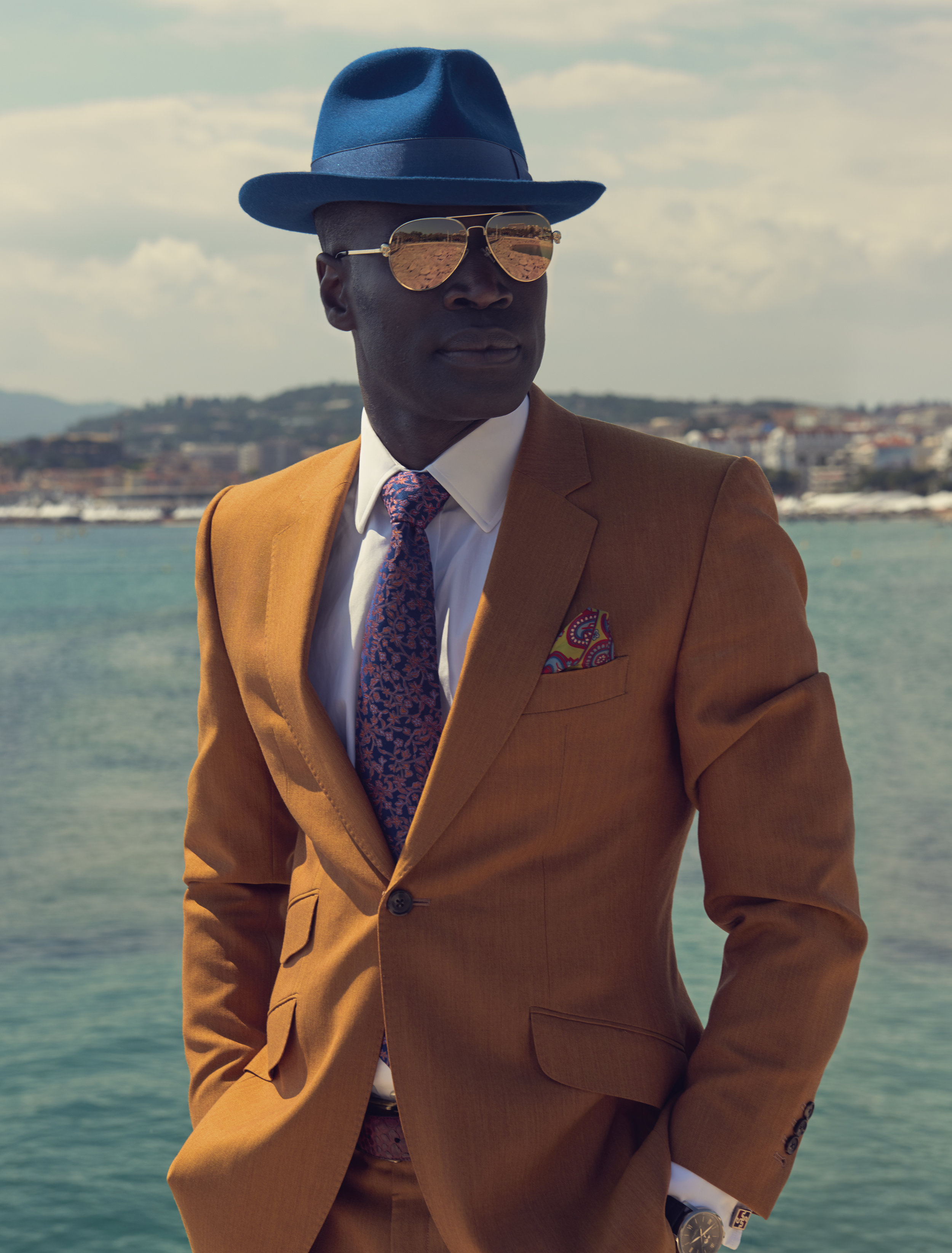 Reggie AnsahChristian Dior, La Colle Noir / George McLeod / Luxure Magazine