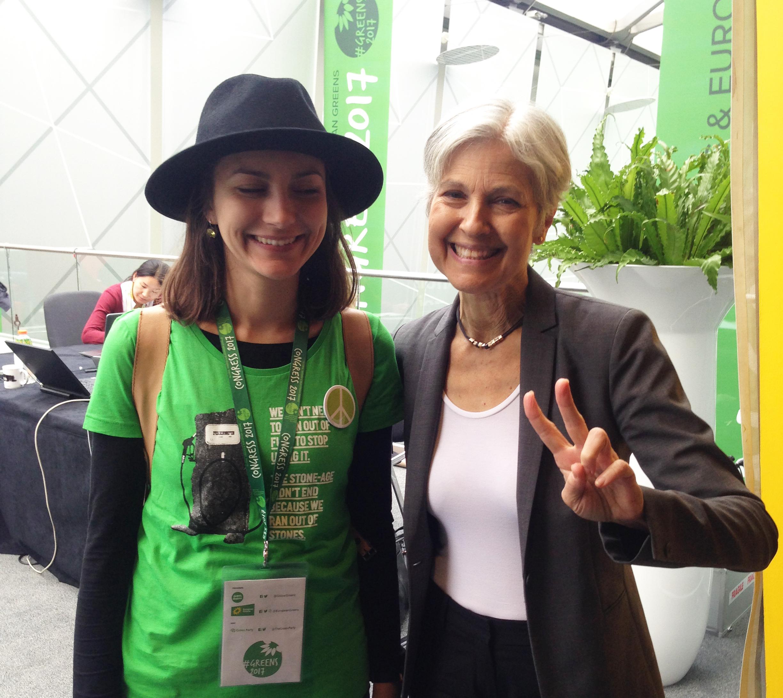 Züleyxa Izmailova ja USA Roheliste presidendikandidaat Jill Stein