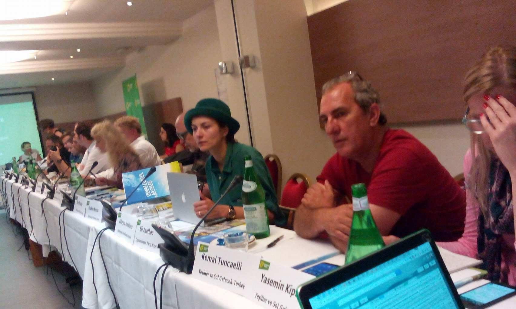 Z.Izmailova Euroopa Roheliste kohtumisel Brüsselis