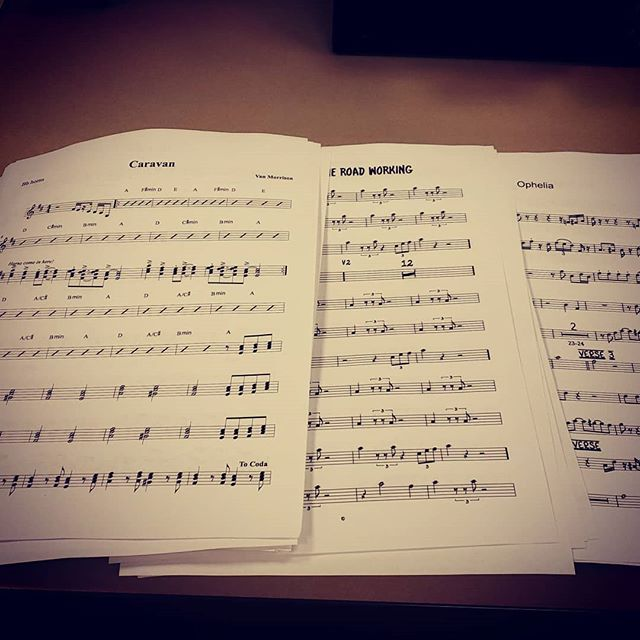 60 pages of horn lines courtesy of Big Jon Lijoi! Leave A Lasting Mark: The Last Waltz tonight at 7:00pm. LET'S. DO. THIS. :-D