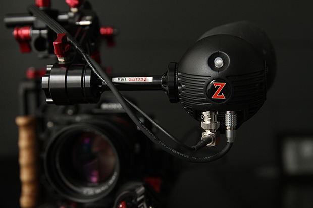 The Zacuto Gratical Eye powered via the Gripper and mounted to the Indie Recoil.