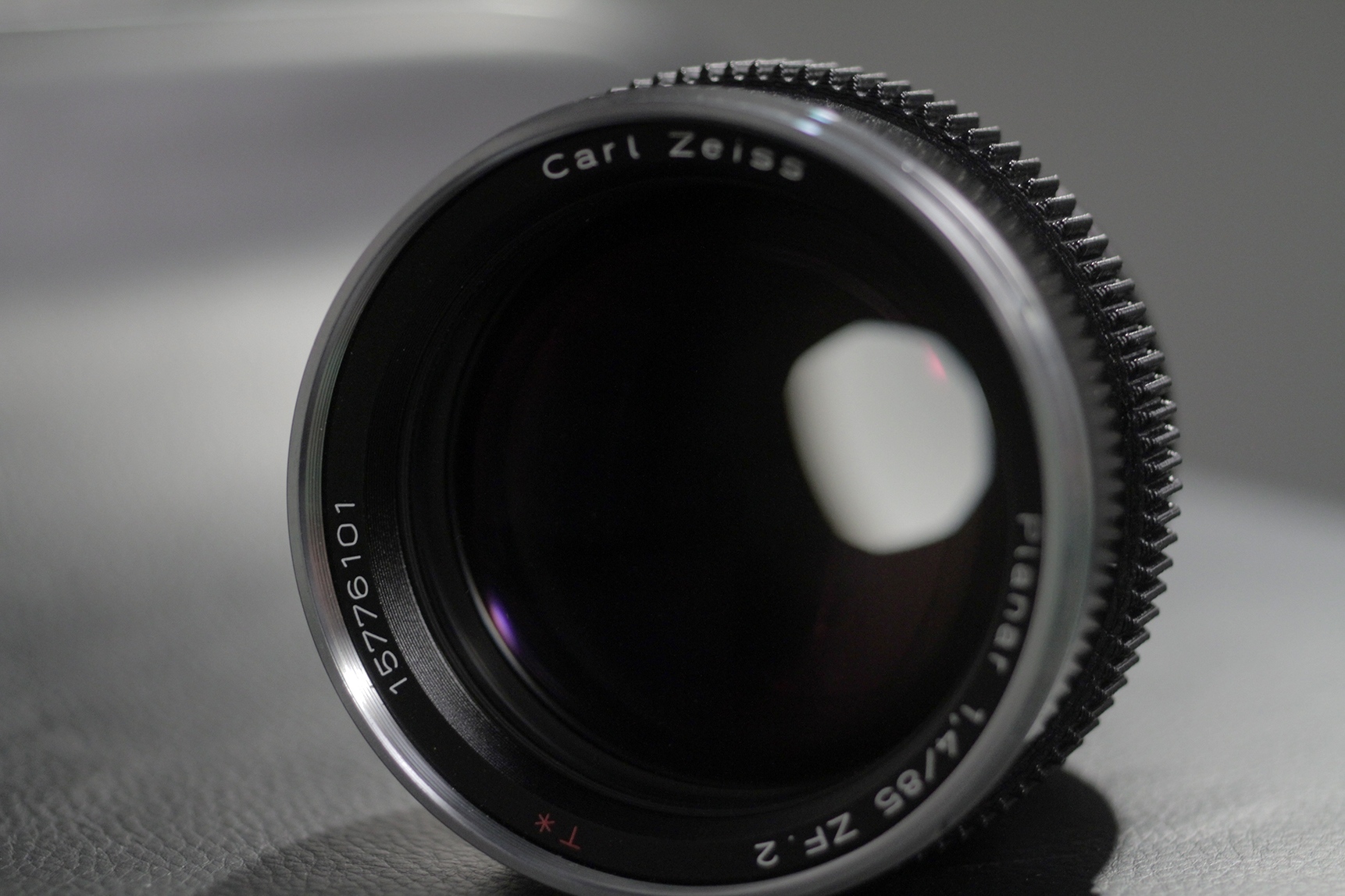 This is my Zeiss 85mm f/1.4 ZF mounted with a followfocusgears.com gear. Note how low profile the gear is.