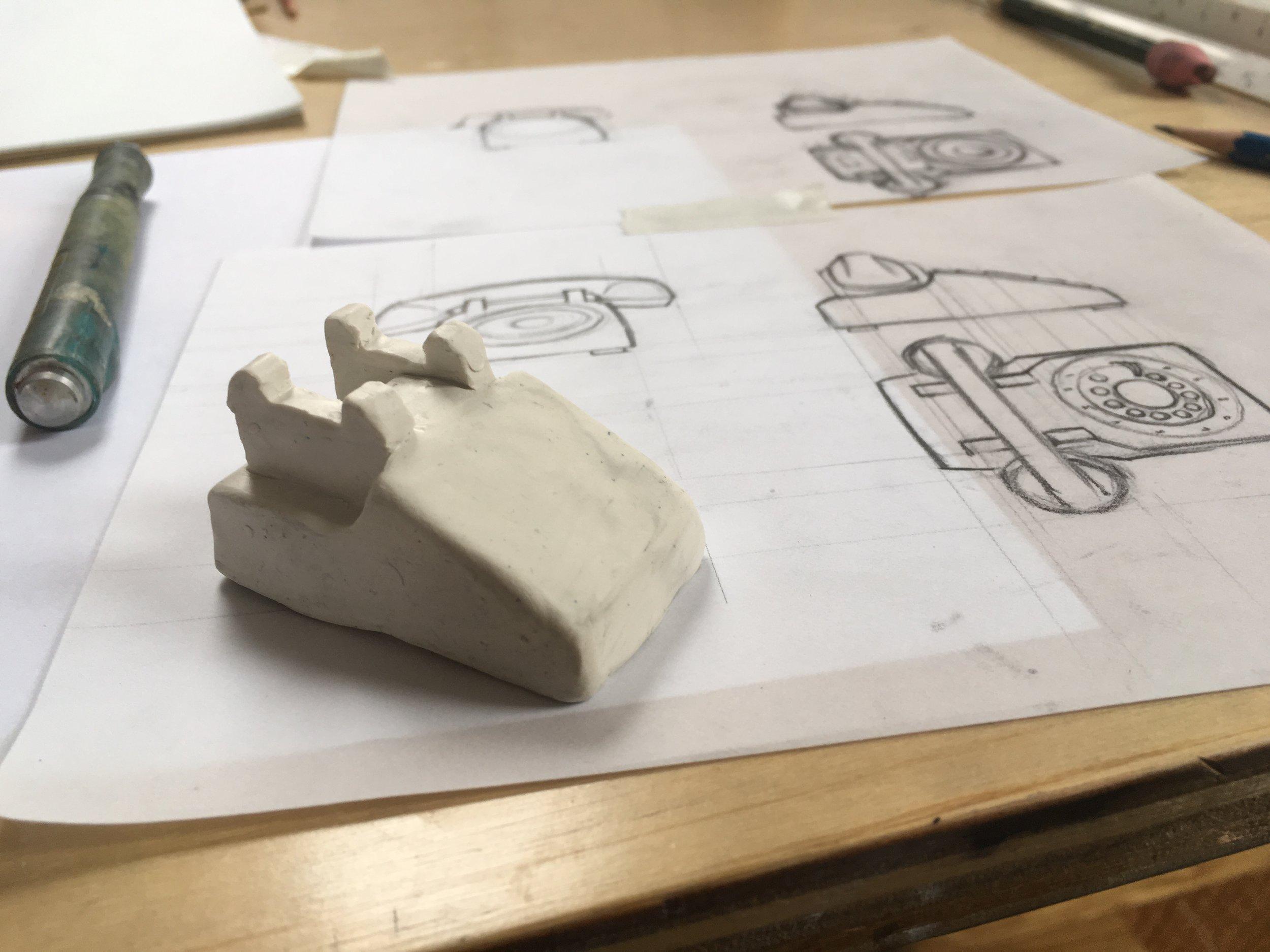 Building miniature phone.