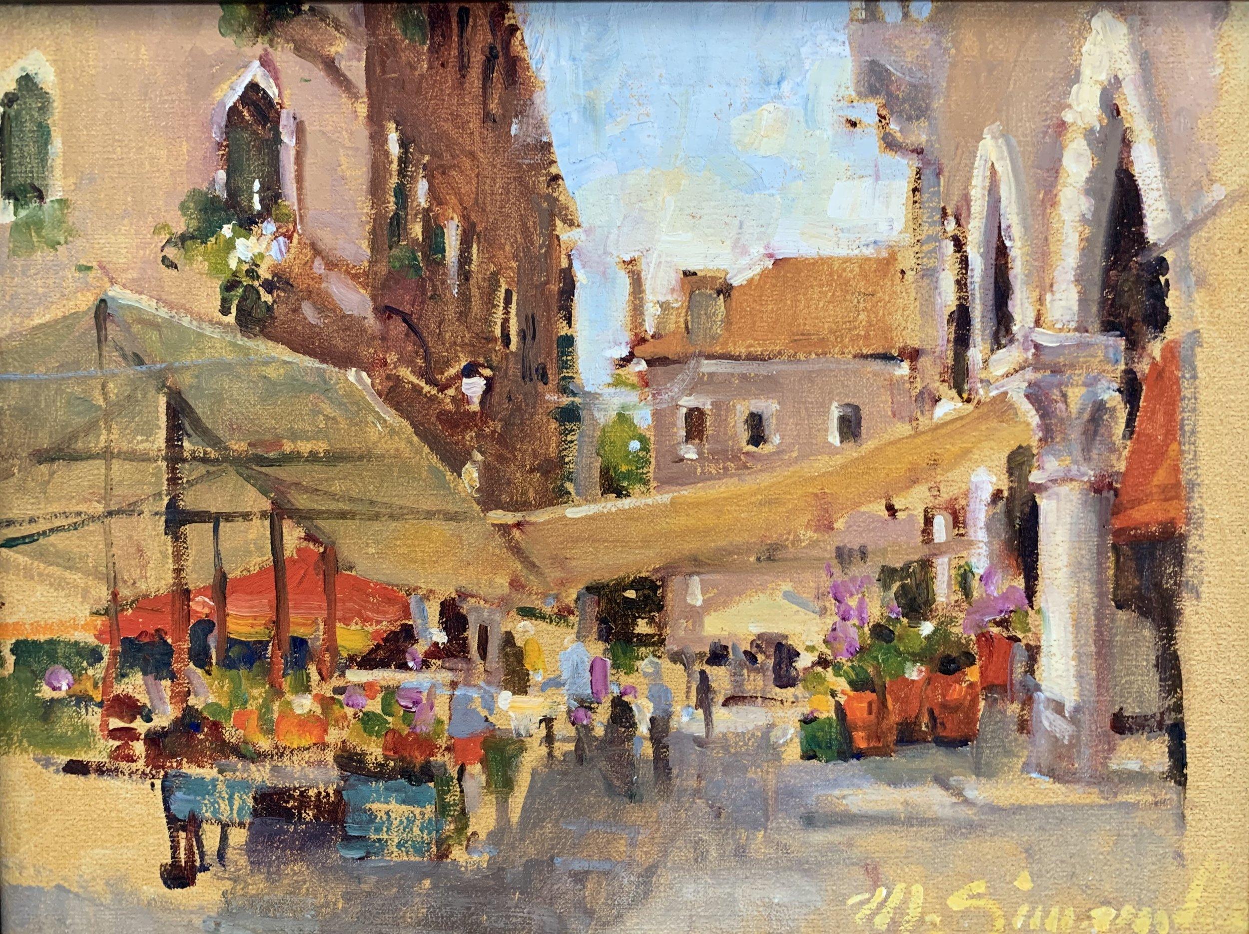 Fish Market Venice 12 x 16