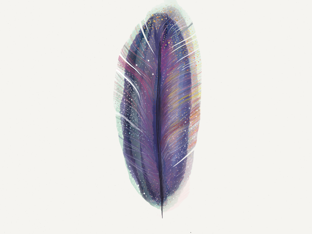 feather no.2 by dorija apple parsley