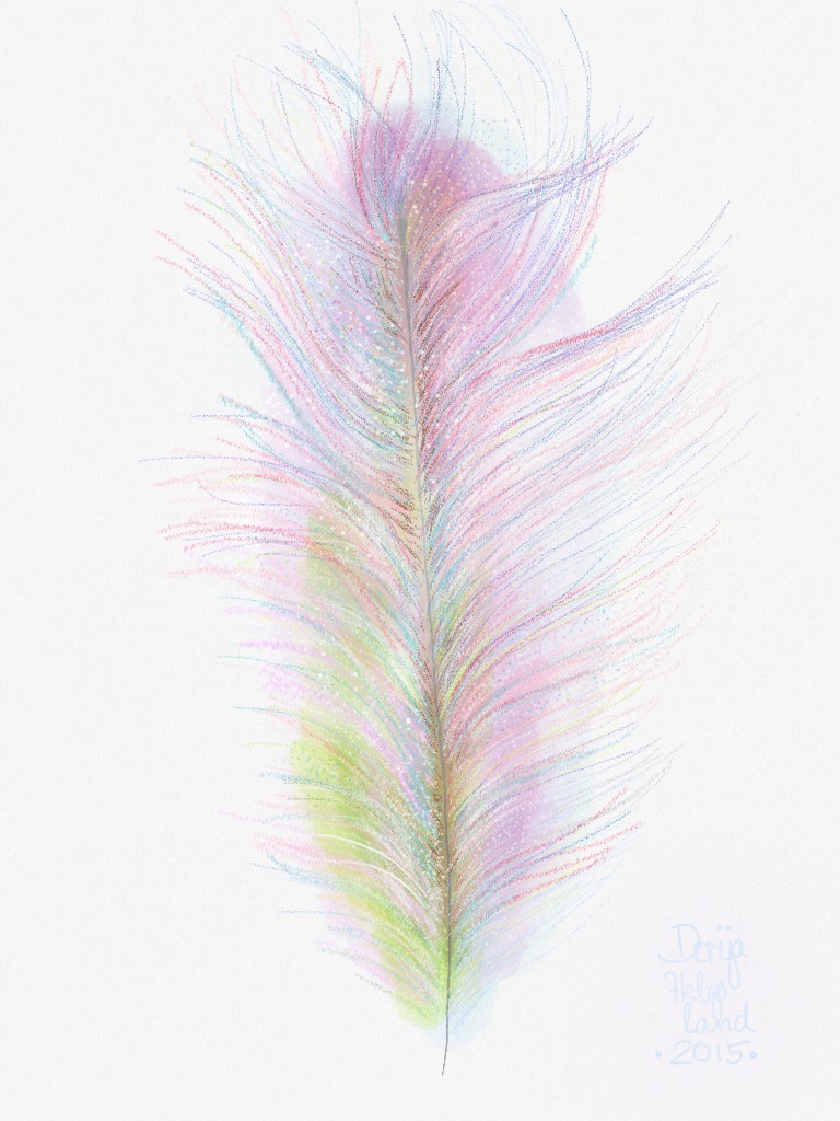 feather no.3 by dorija apple parsley