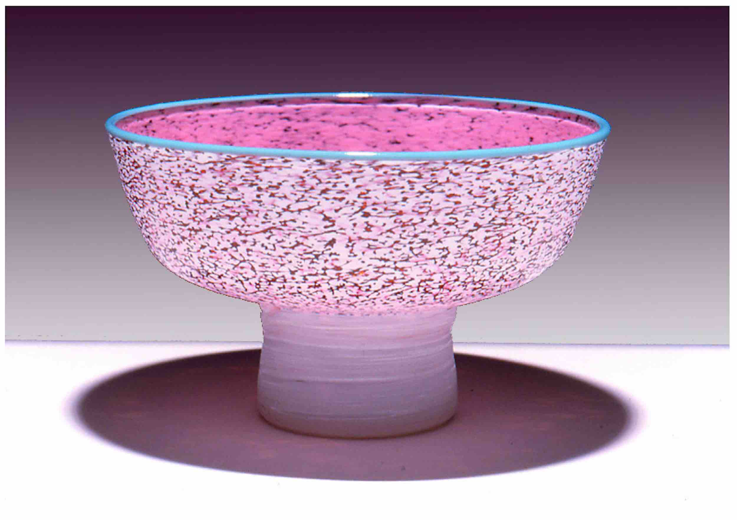 """Bowl with coiled foot, 5"""" x 7"""""""