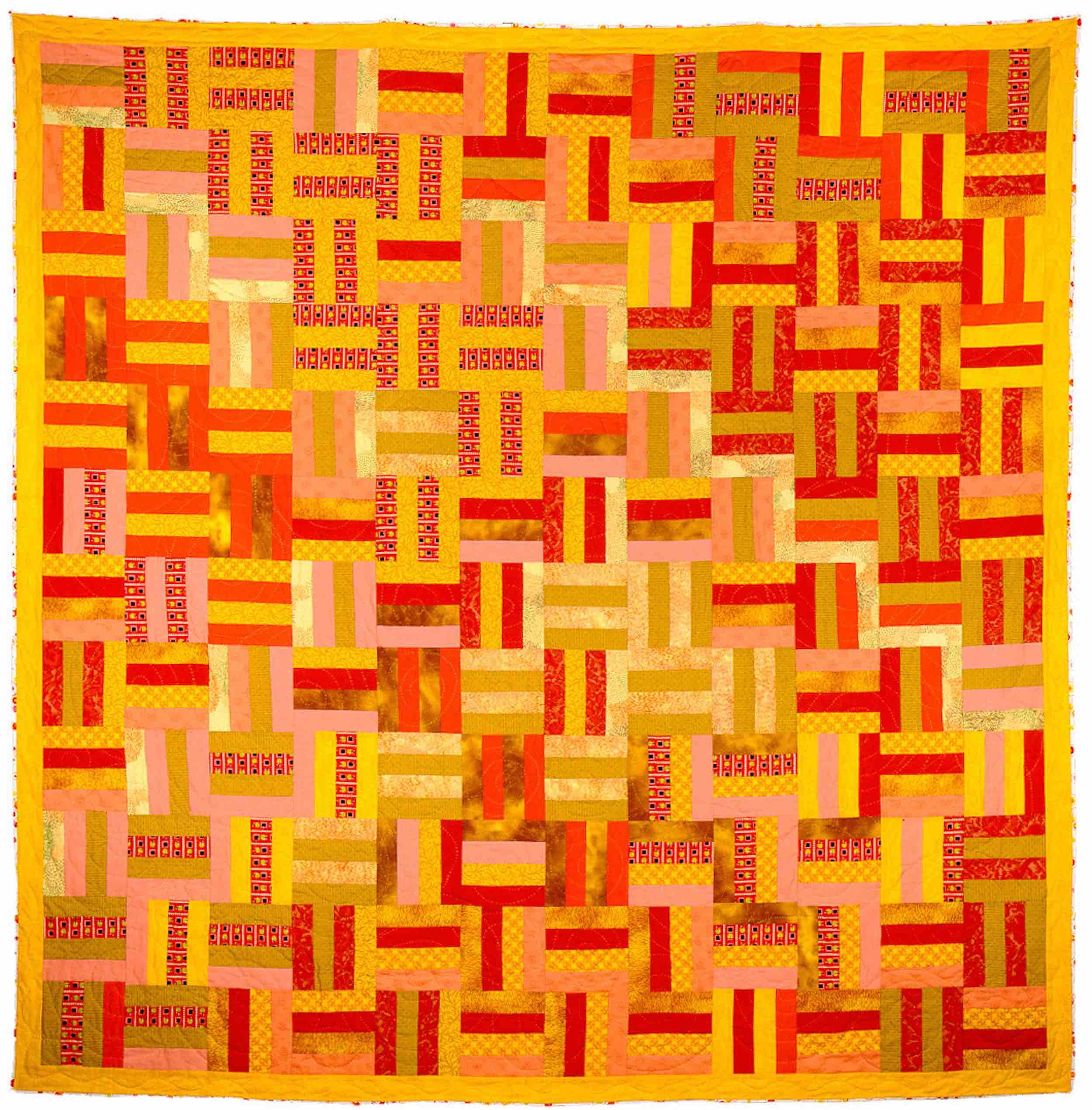 Basket Weave Quilt (Roman Stripe variation)