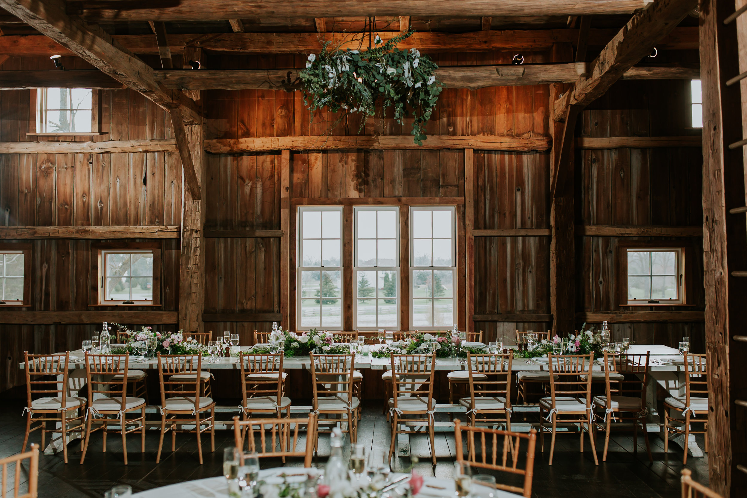 Greenery Chandelier and Head Table Garland
