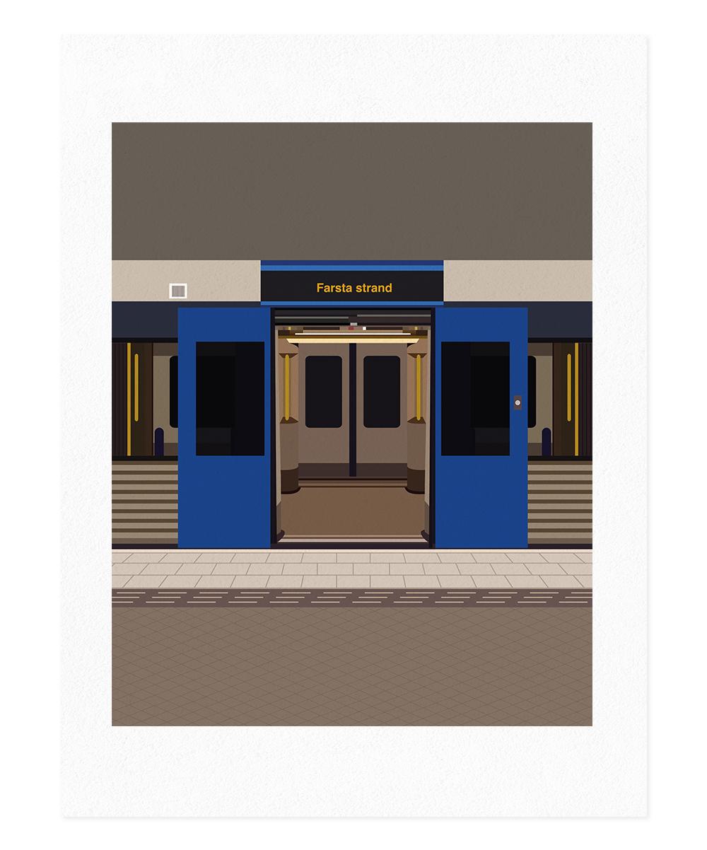 Evelin Toledano – Train Line II, Stockholm