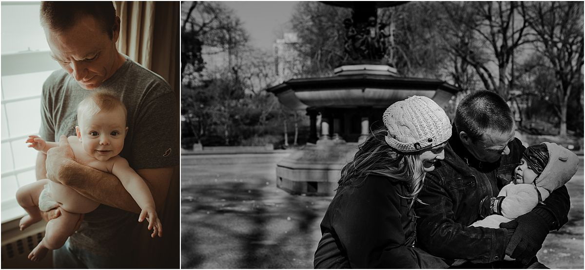 nyc newborn and family photographer family in central park