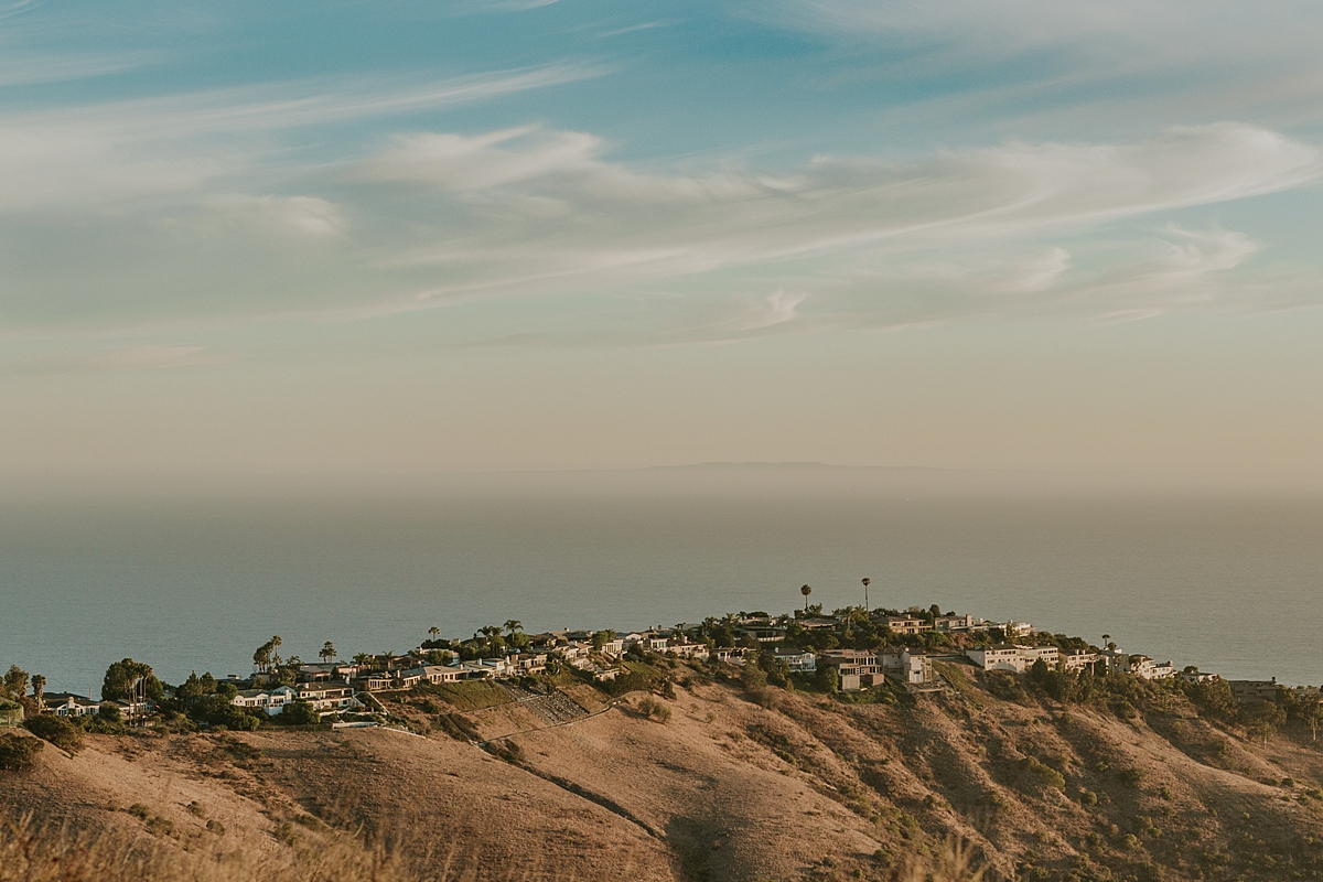 photo by Orange County family photographer Krystil McDowall Photography. Landscape photo of view taken from Top of the World Laguna Beach California