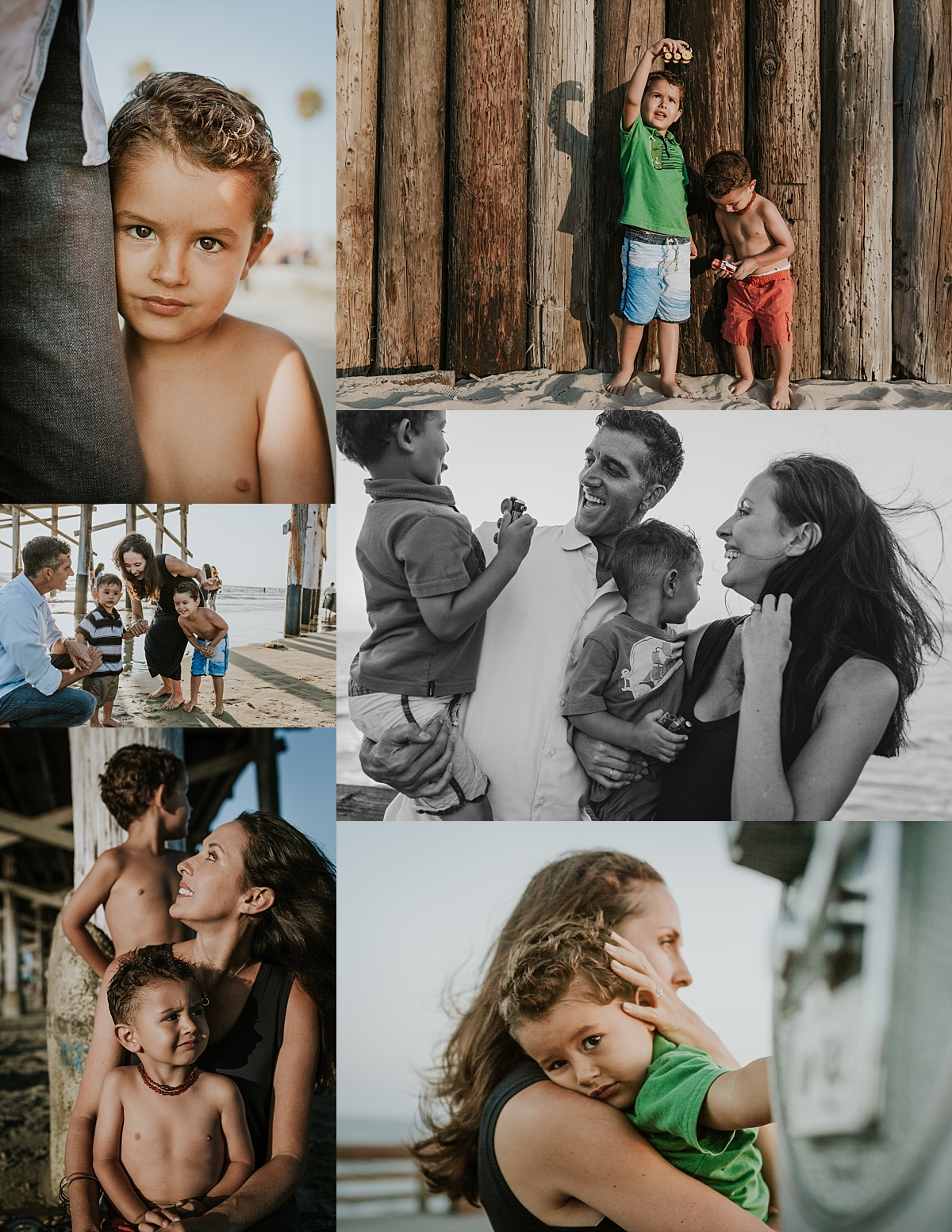 Family photo session at Newport Beach Pier by Krystil McDowall Photography