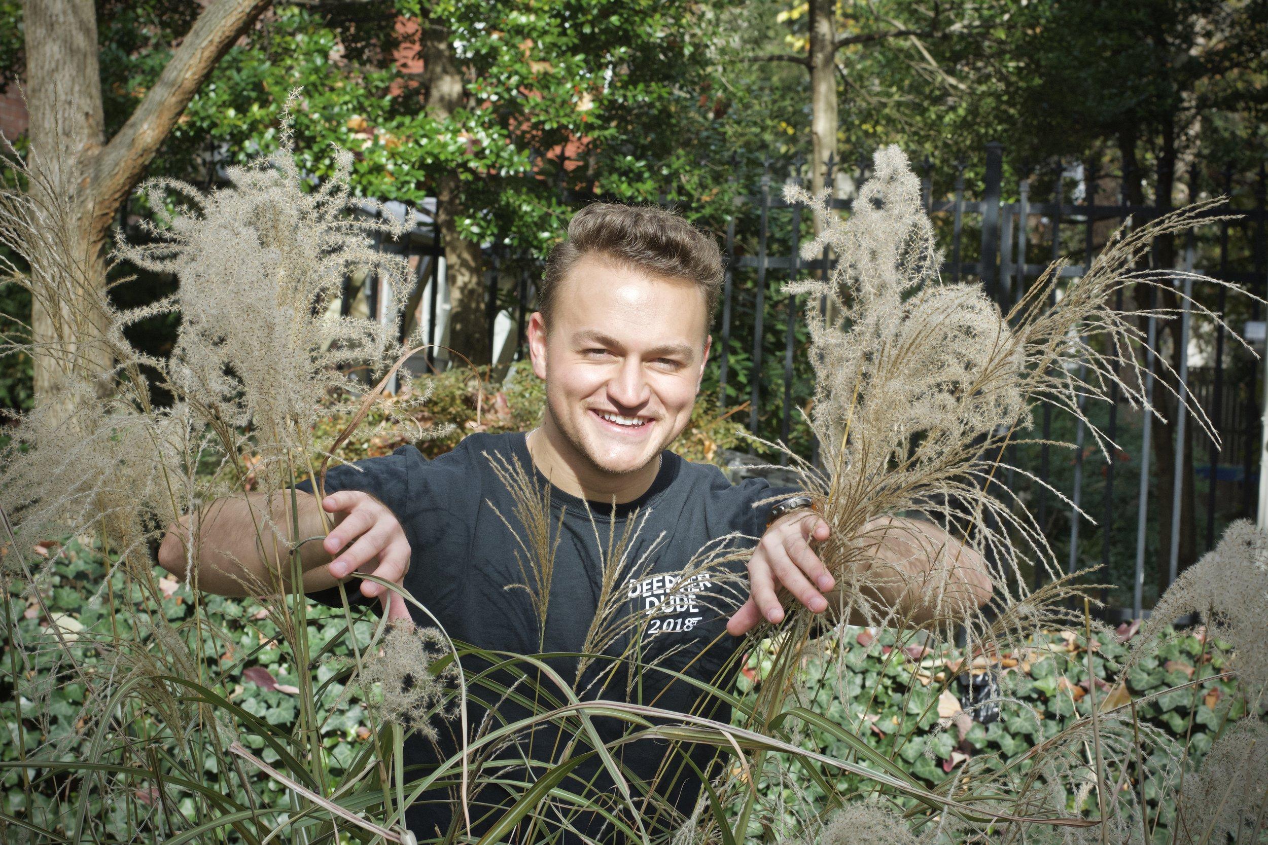 A wild Matt optimistically peers through the brush. Photo by Jake Ellis.