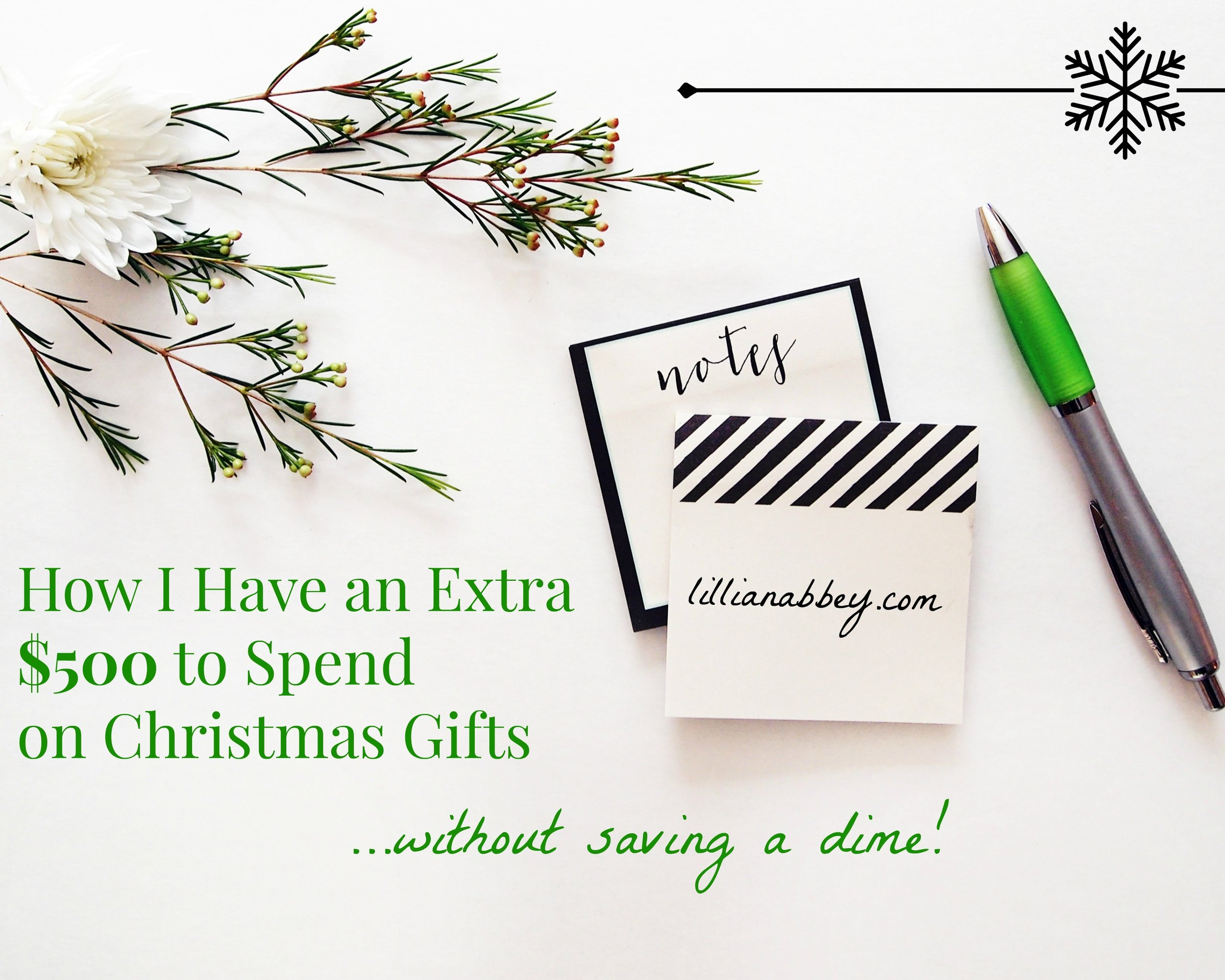 How to Get Extra Money for Christmas without Saving!