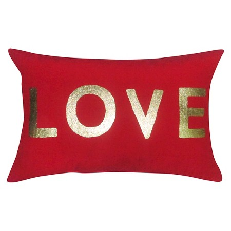 """LOVE"" Lumbar Pillow"