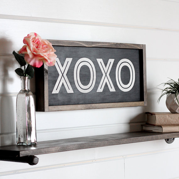 XOXO Wooden Sign