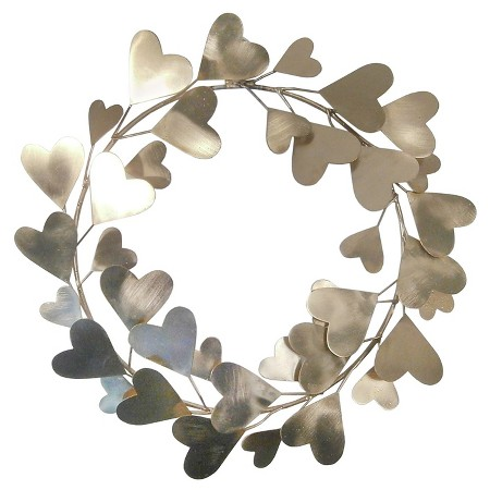 Gold Heart Wreath