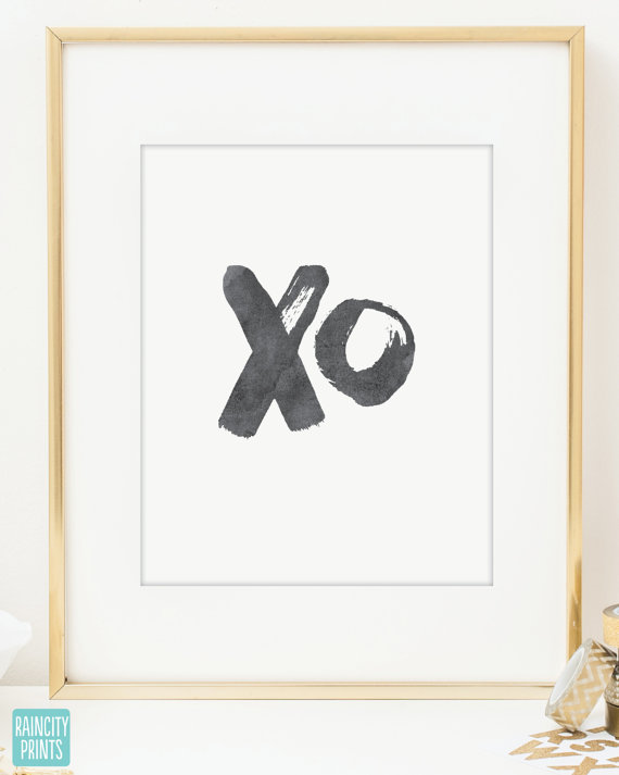 XO Watercolor Print