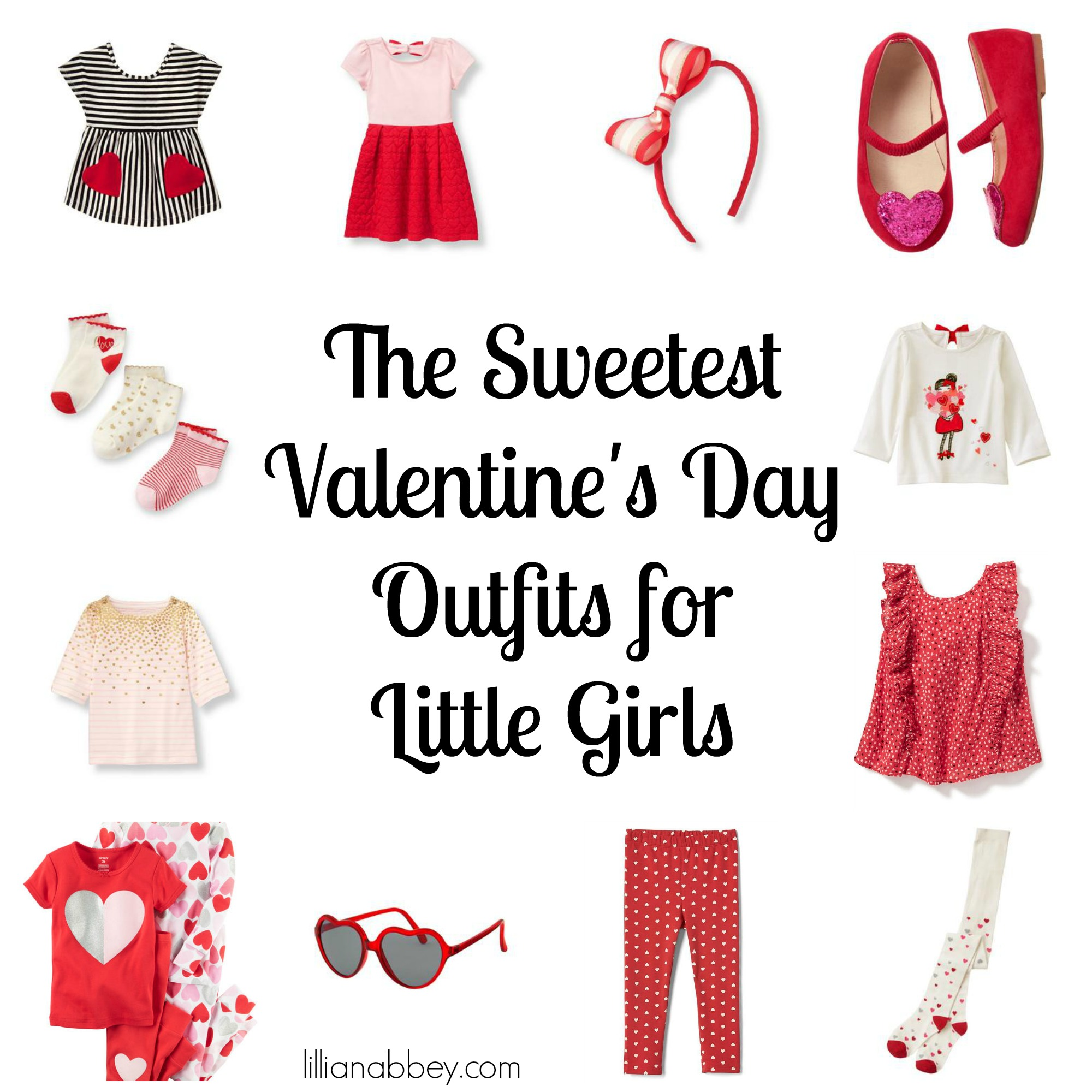 The Sweetest Valentine's Day Outfits for Little Girls