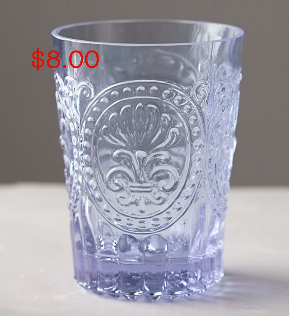 Anthropologie fleur de lis glass