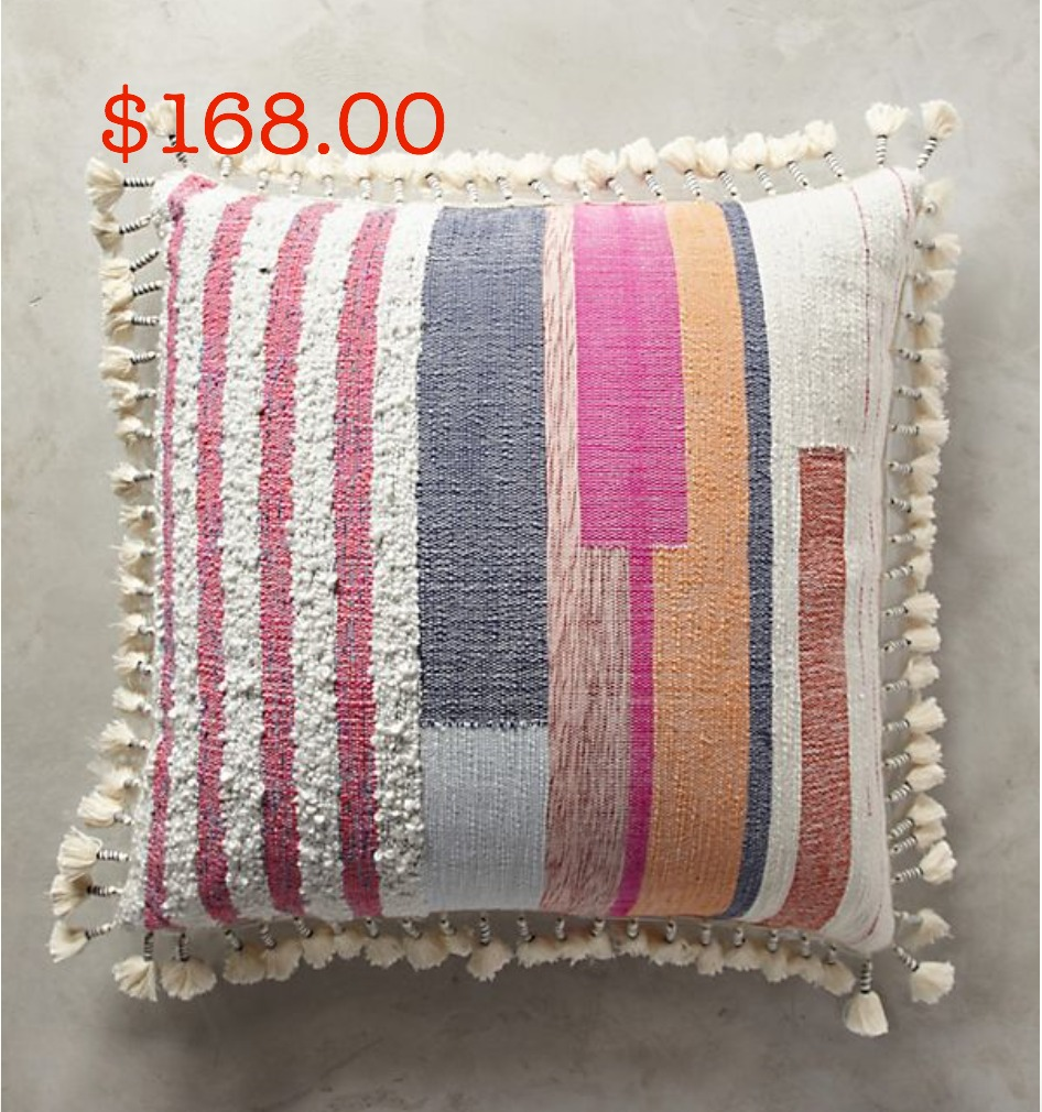 Anthropologie oversized pillow