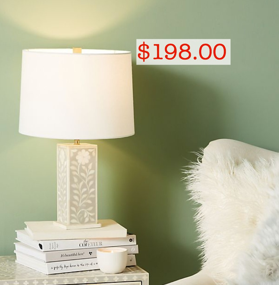 Anthropologie inlay lamp